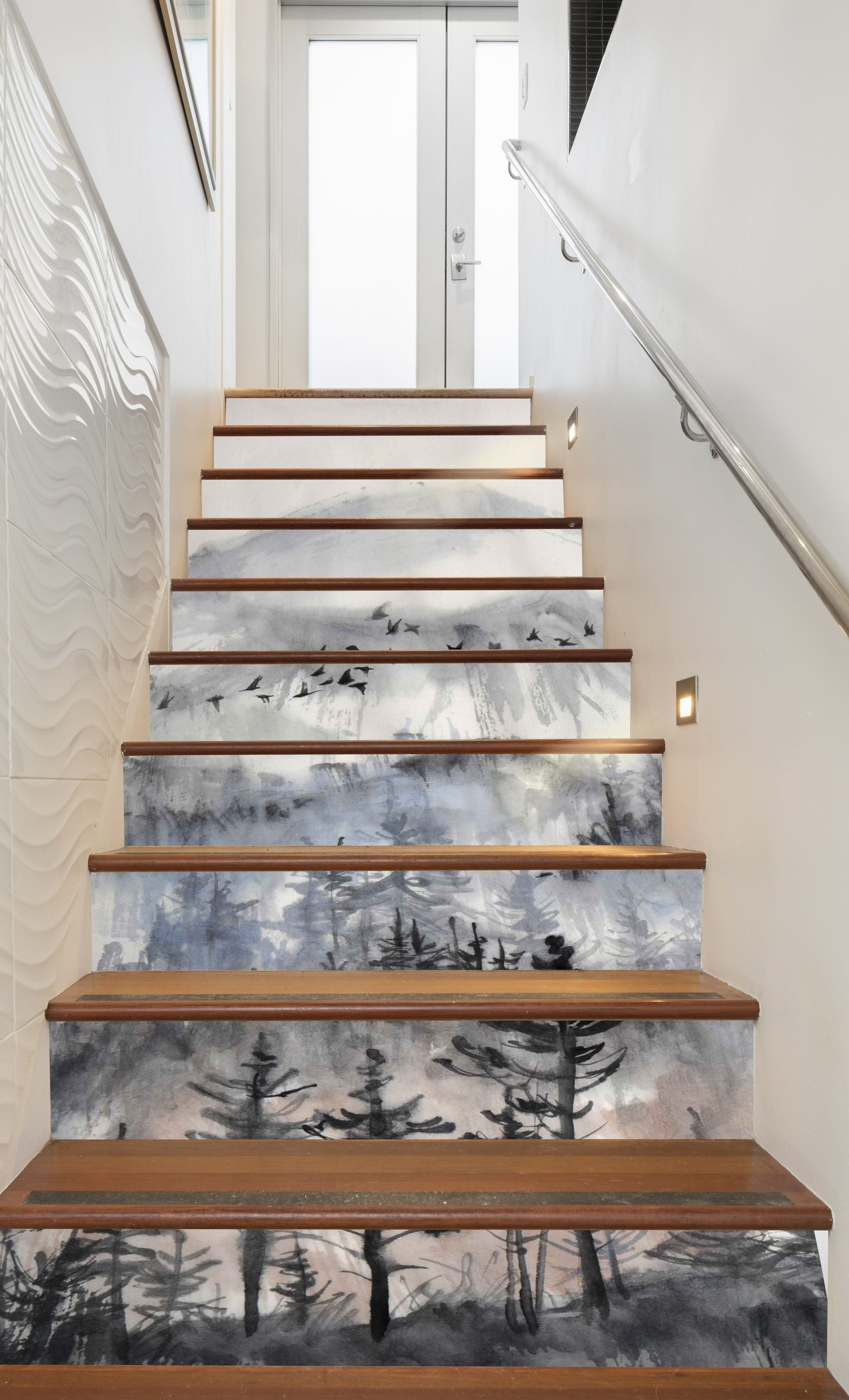 3D Art Painting 983 Stair Risers Wallpaper AJ Wallpaper