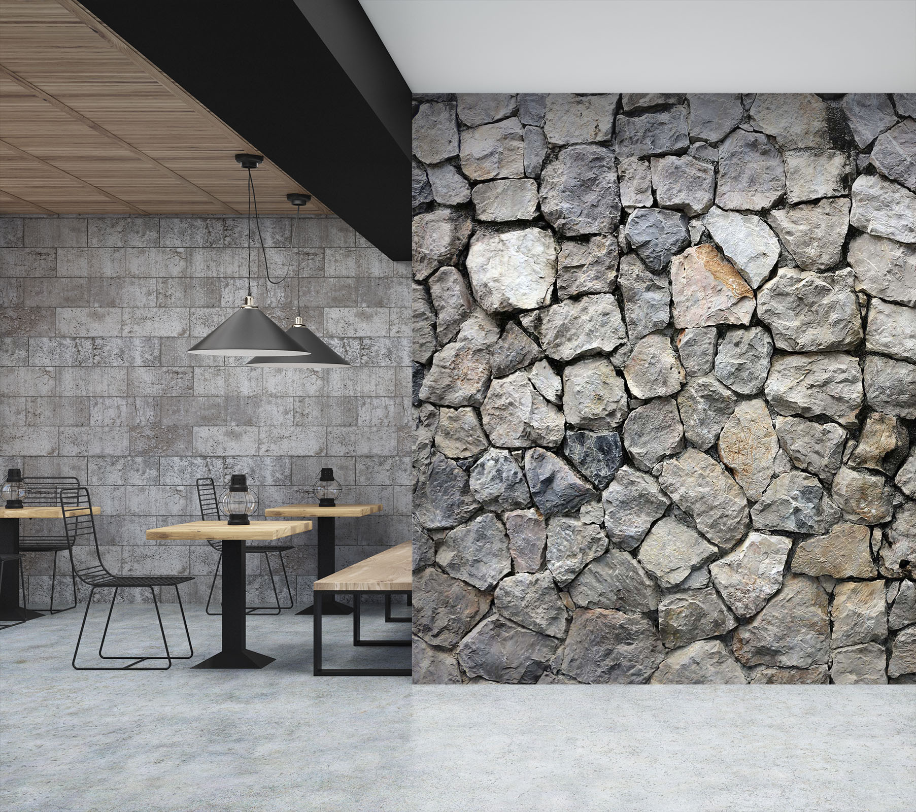 3D Interlace Rock 16 Wall Murals