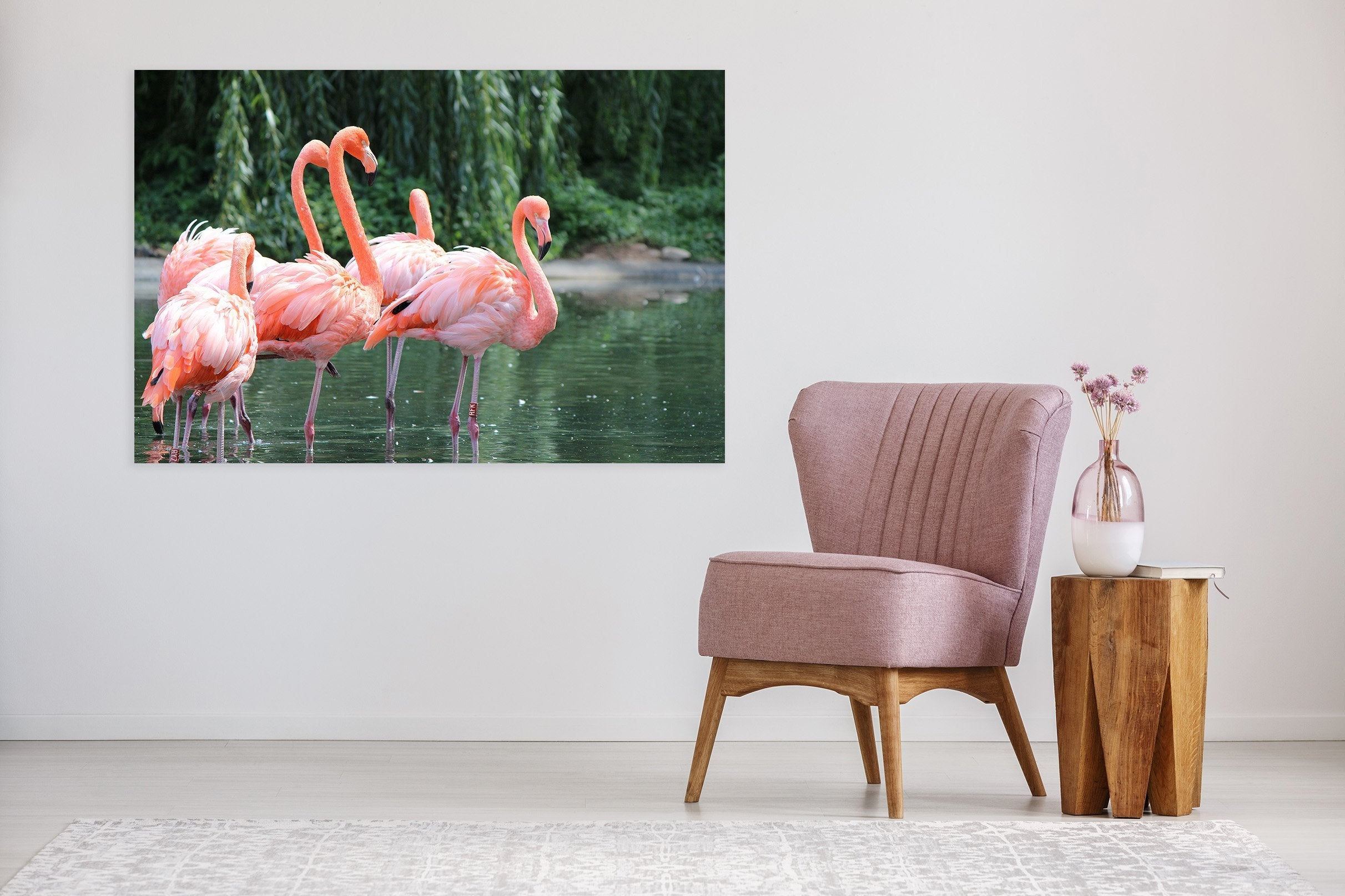 3D Flamingo Lake Water 53 Animal Wall Stickers