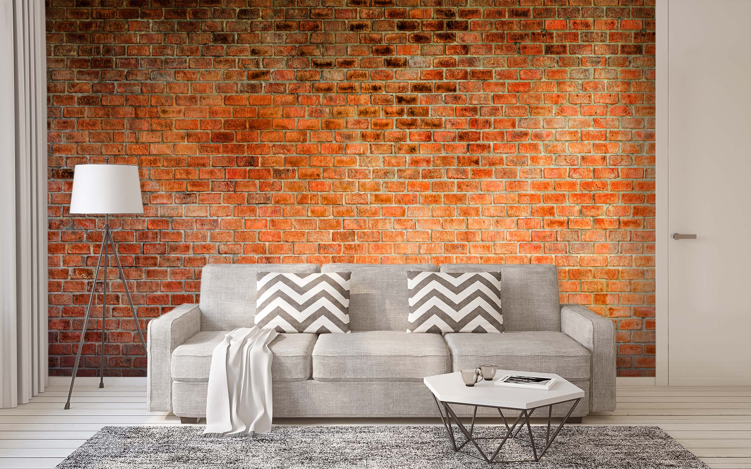 3D Red Brick Wall 35 Wall Murals