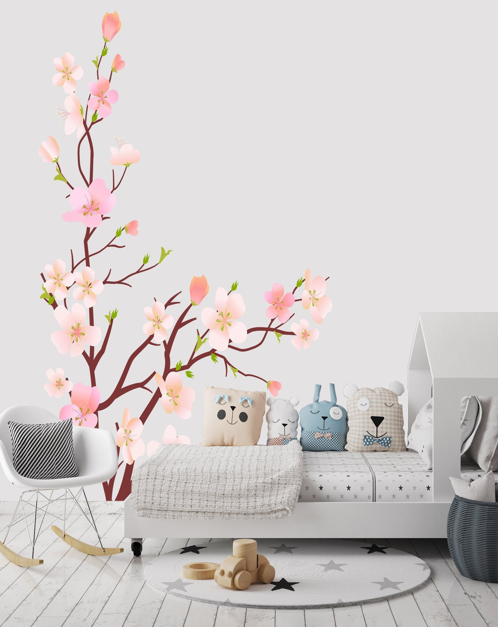 3D Doodle Peach 076 Wall Stickers Wallpaper AJ Wallpaper