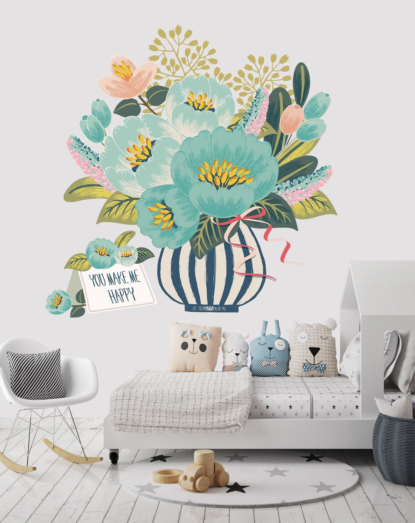 3D Bouquet Postcard 008 Wall Stickers Wallpaper AJ Wallpaper