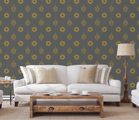 3D Golden Flower Pattern 614