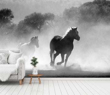 3D Running Horse Dust 652 Wallpaper AJ Wallpaper