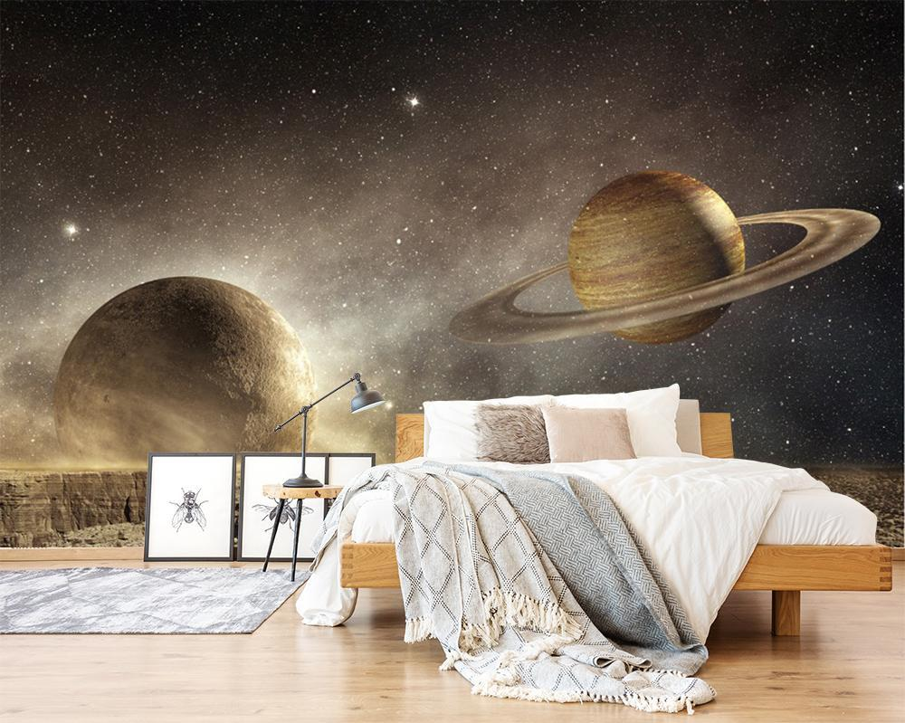 3D Saturn Stars 211 Wallpaper AJ Wallpaper