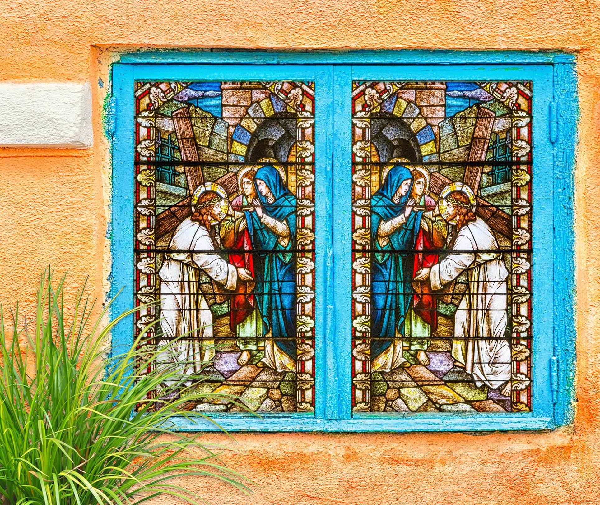 3D Christian Holy Father 238 Window Film Print Sticker Cling Stained Glass UV Block