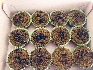 Pastry Idea # 2: Mixed Berries Cupcakes with Green Tea Crumbs