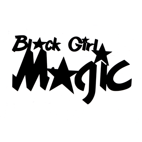 Black Girl Magic Vinyl Cling Decal