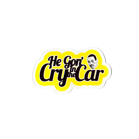 Cry In The Car Sticker
