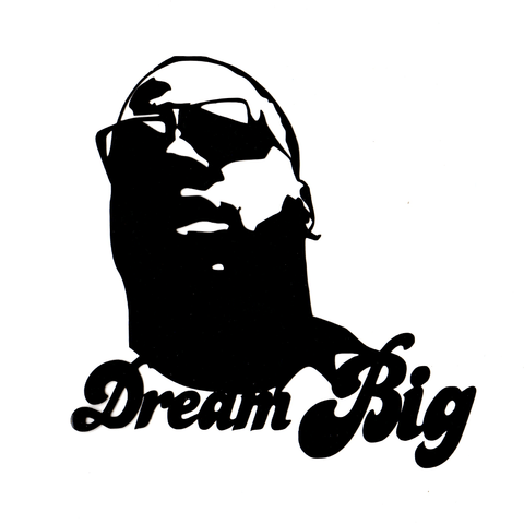 Dream B.I.G. Vinyl Cling Decal