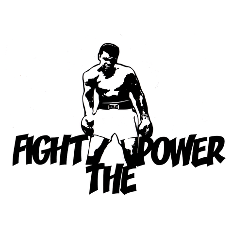 Ali Fight Vinyl Cling Decal