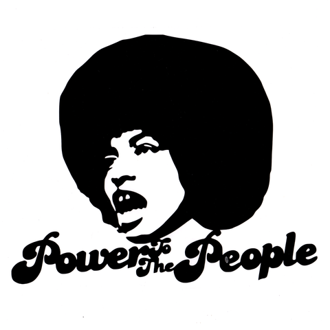 Angela Power Vinyl Cling Decal