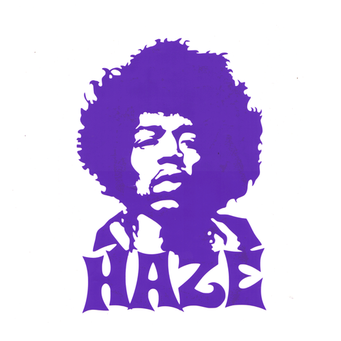 Purple Haze Vinyl Cling Decal