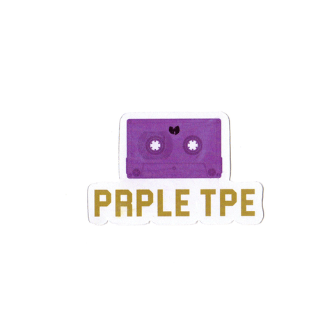 Purple Tape Sticker