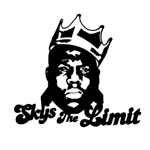 Skys The Limit Vinyl Cling Decal