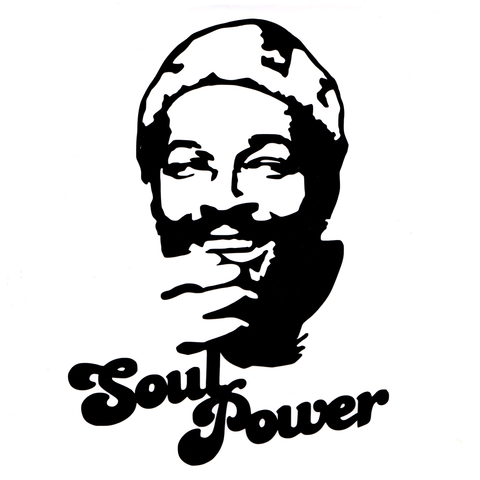 Soul Power Marvin Vinyl Cling Decal