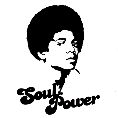 Soul Power Michael Vinyl Cling Decal