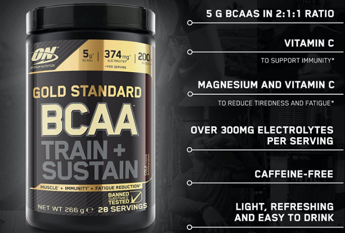 Optimum Nutrition ON Gold Standard BCAA Train Sustain