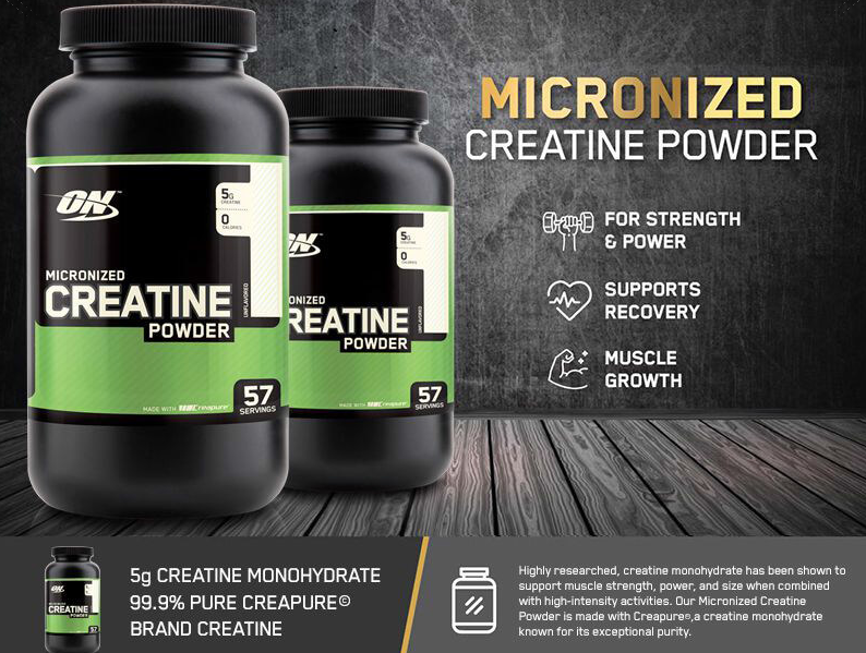 Optimum Nutrition ON creatine powder - creatina monohidrata micronizata