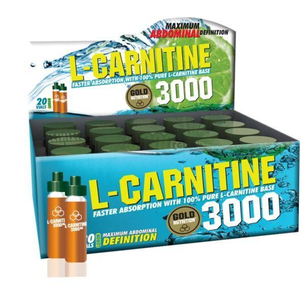 (20 fiole/cutie) GoldNutrition L-Carnitine 3000