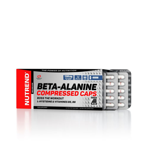 Nutrend Beta Alanine Compressed Caps 90 capsule - www.WShop.ro by WorldClass | proteine , suplimente nutritive culturism , echipament sportiv