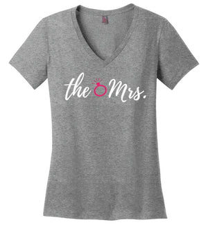 The Mrs. Ladies V-Neck Tee