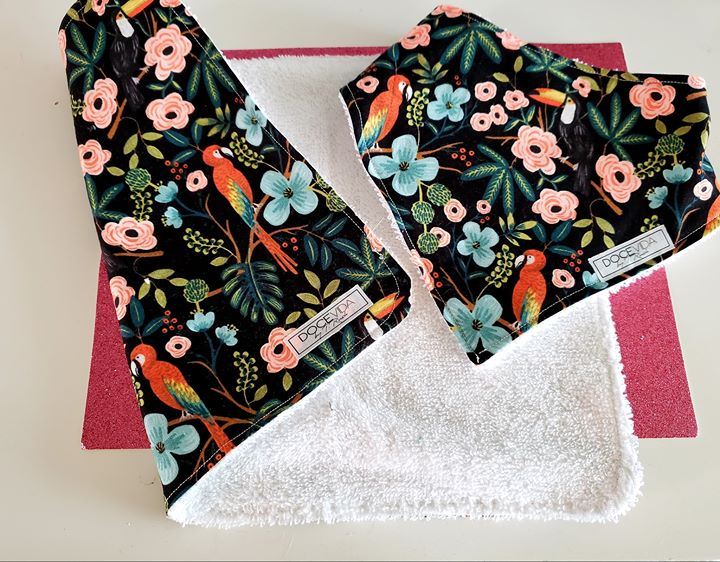 Baby Bandana Bib & Burp Cloth Matching Set