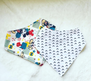Flannel Backed Baby Drool Handkerchief Bib