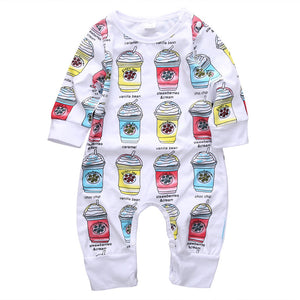 Frappuccino Baby Girl Romper