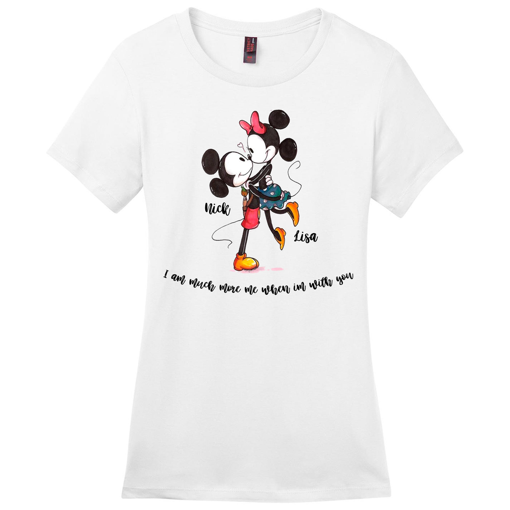 Me & You Ladies Vintage Mickey and Minnie Tee
