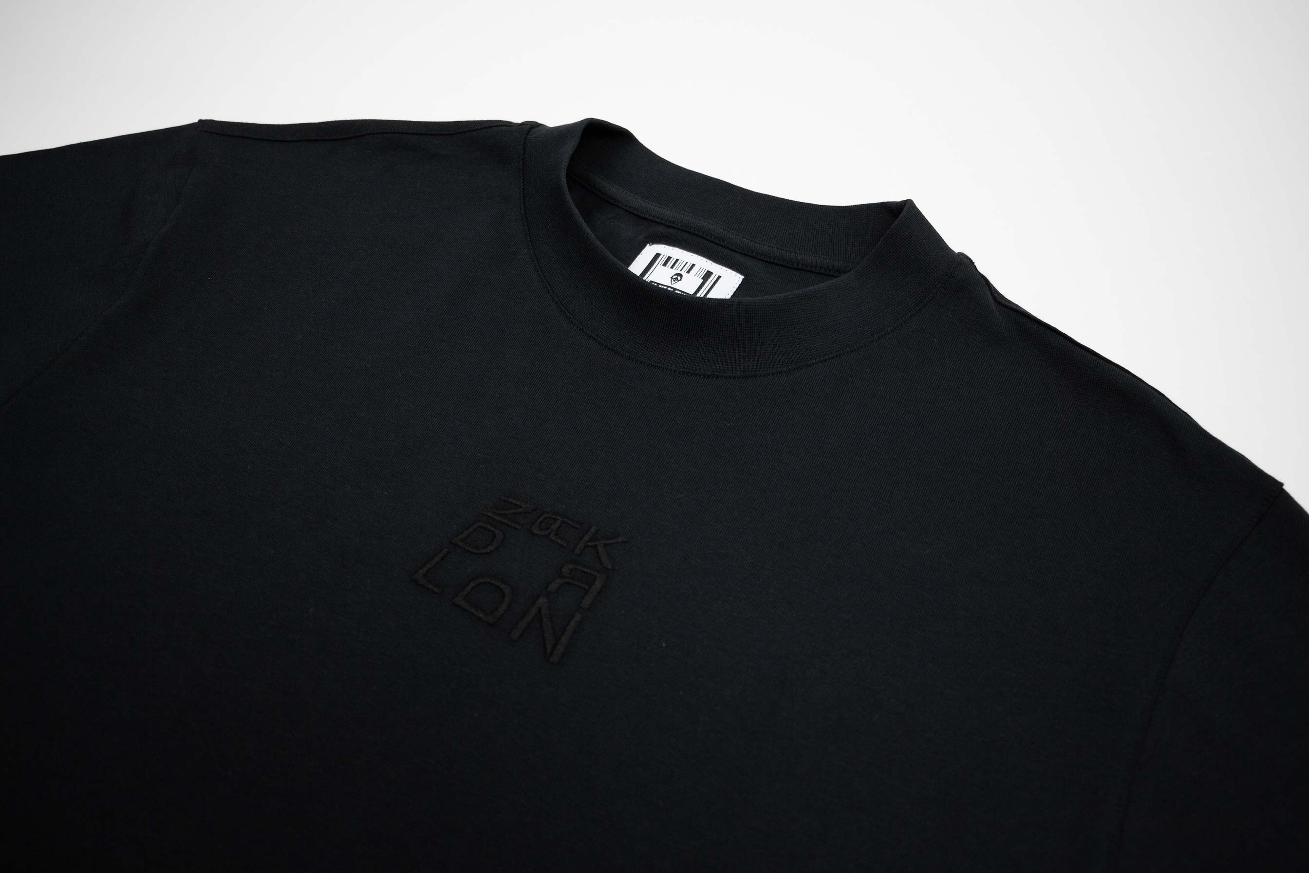 ZRK SQUARED² MOCK NECK TEE // BLACK