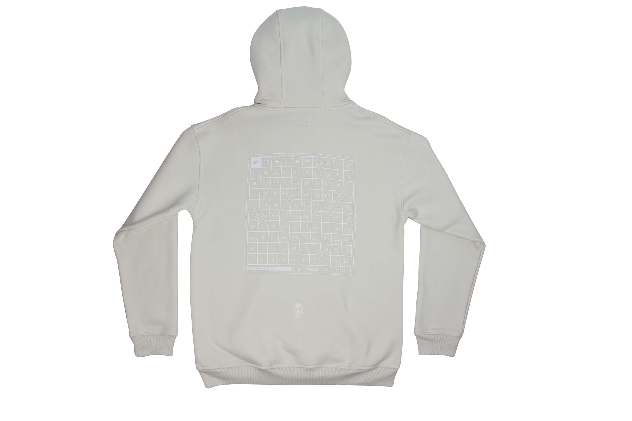 NO SNAKES JUST LADDERS TONAL HOOD // OFF WHITE