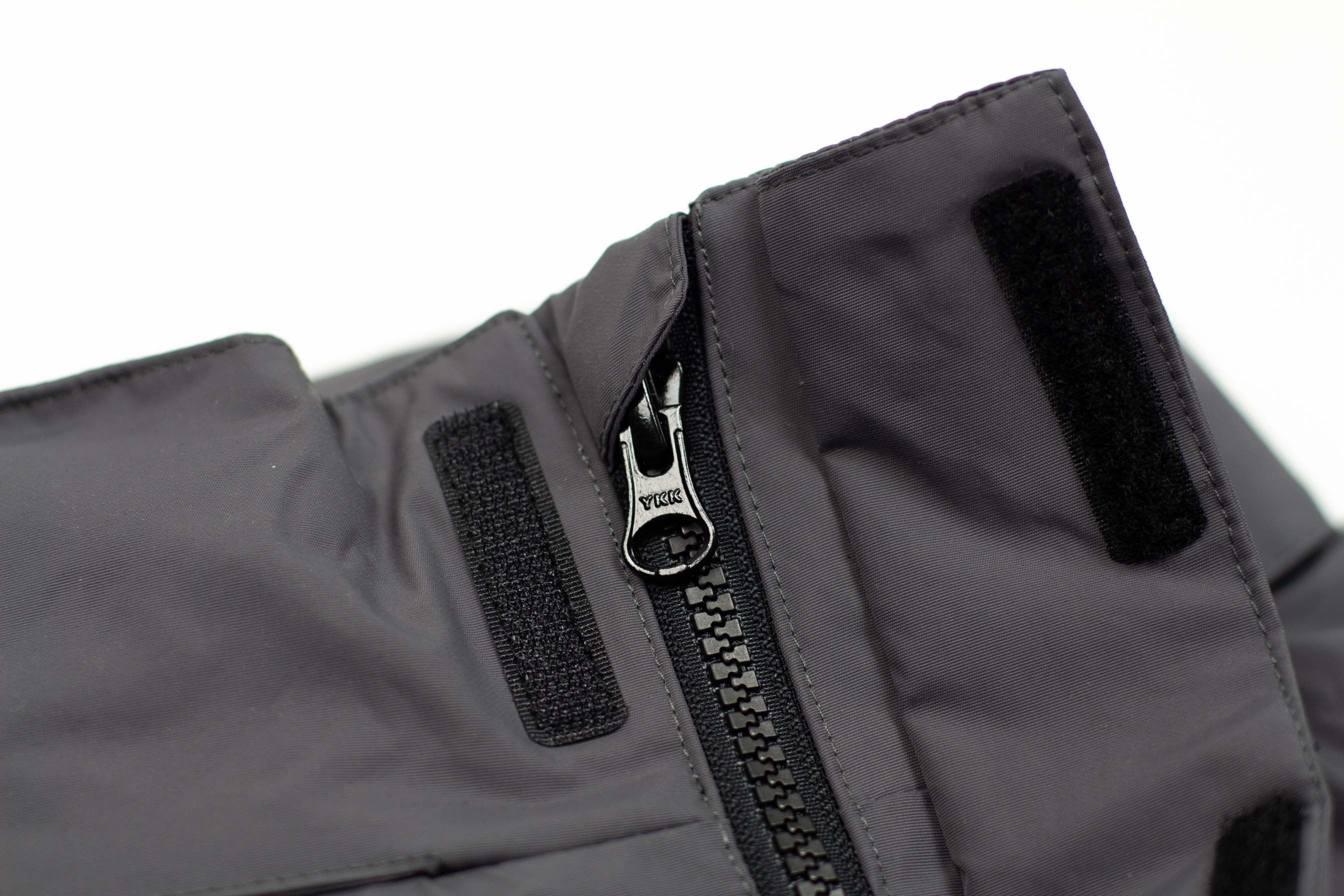 PANELLED WATERPROOF JACKET // DARK GREY