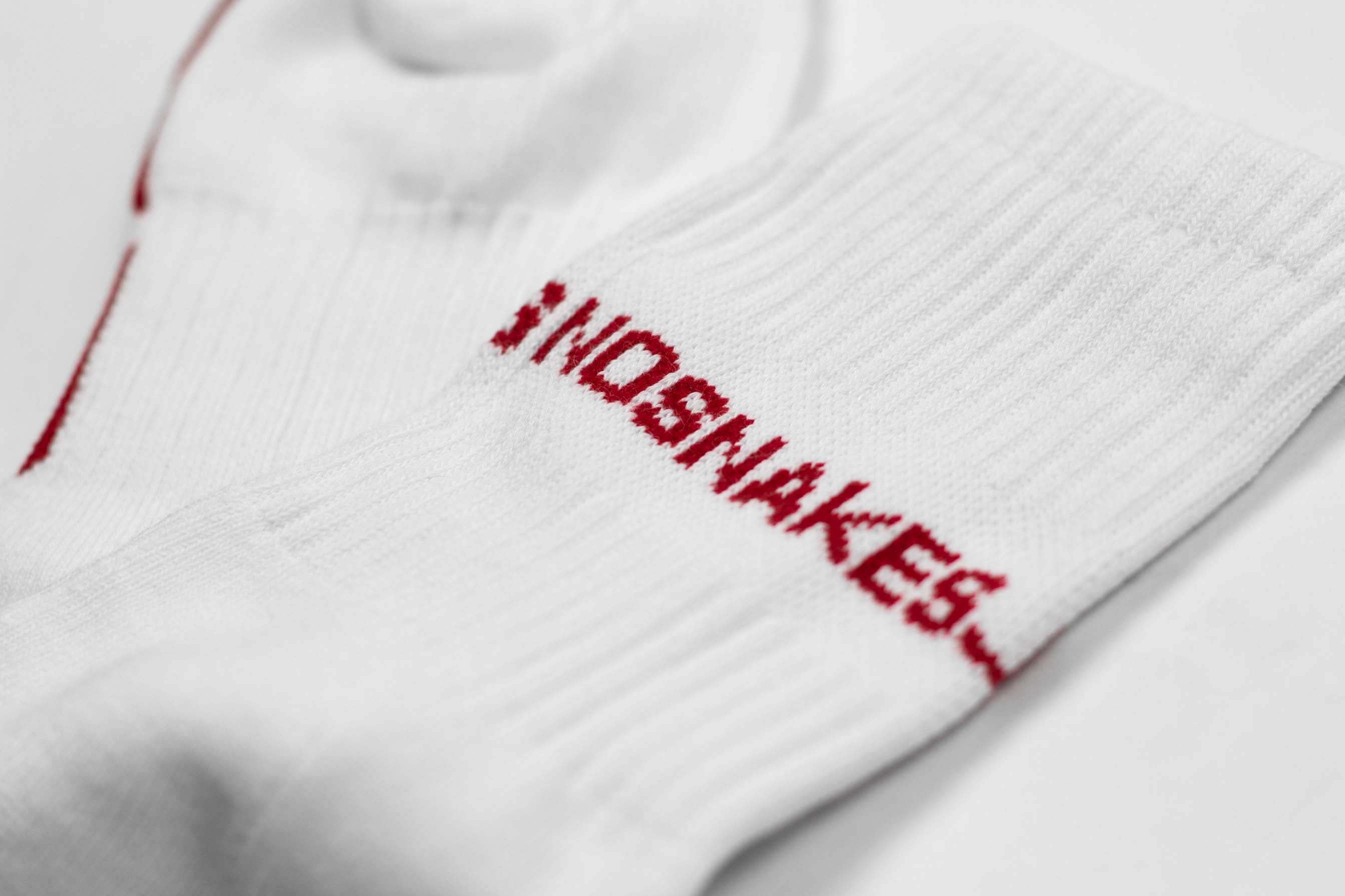 NSJL SOCKS // WHITE & RED