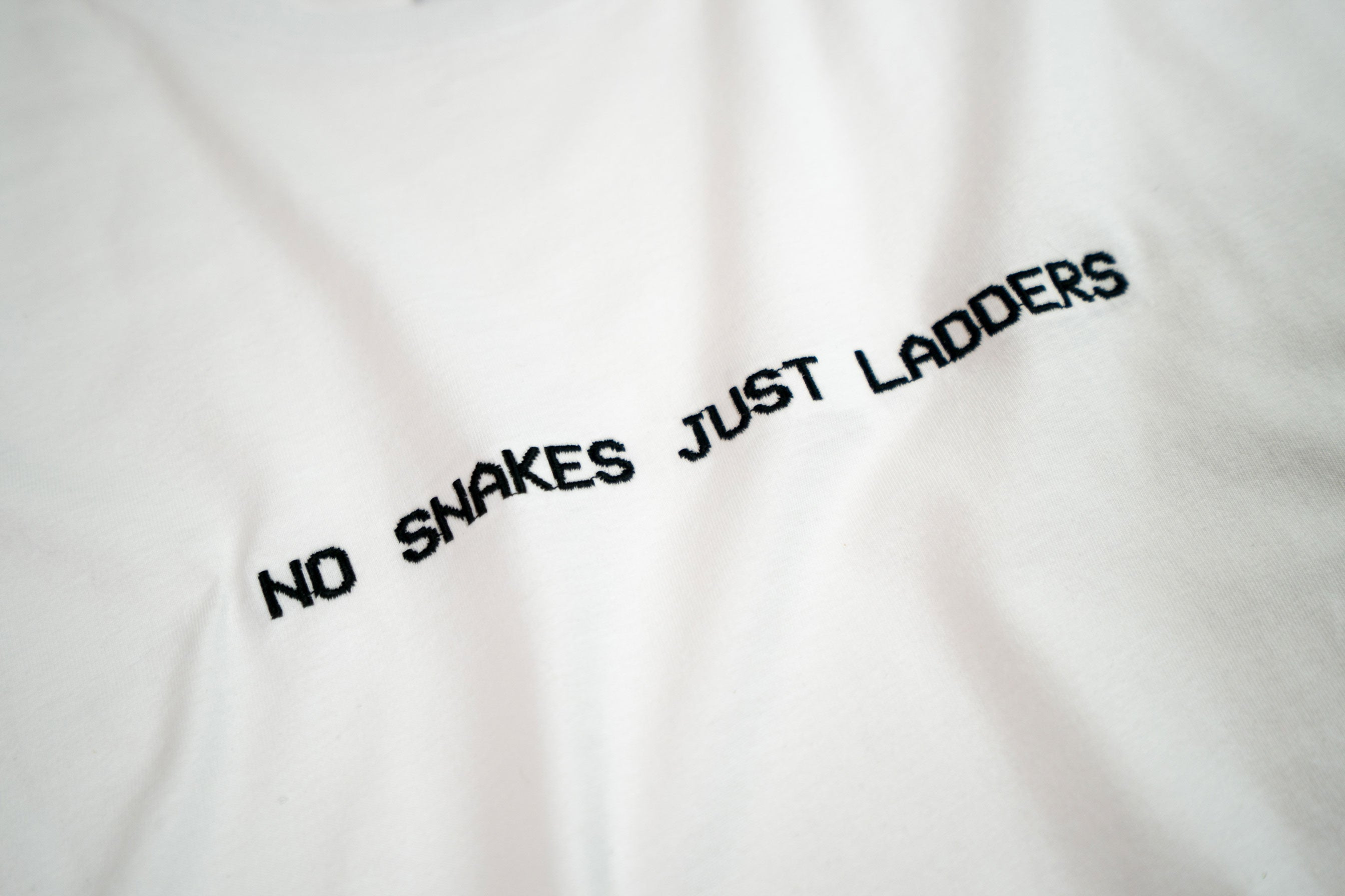 NO SNAKES JUST LADDERS // WHITE & BLACK