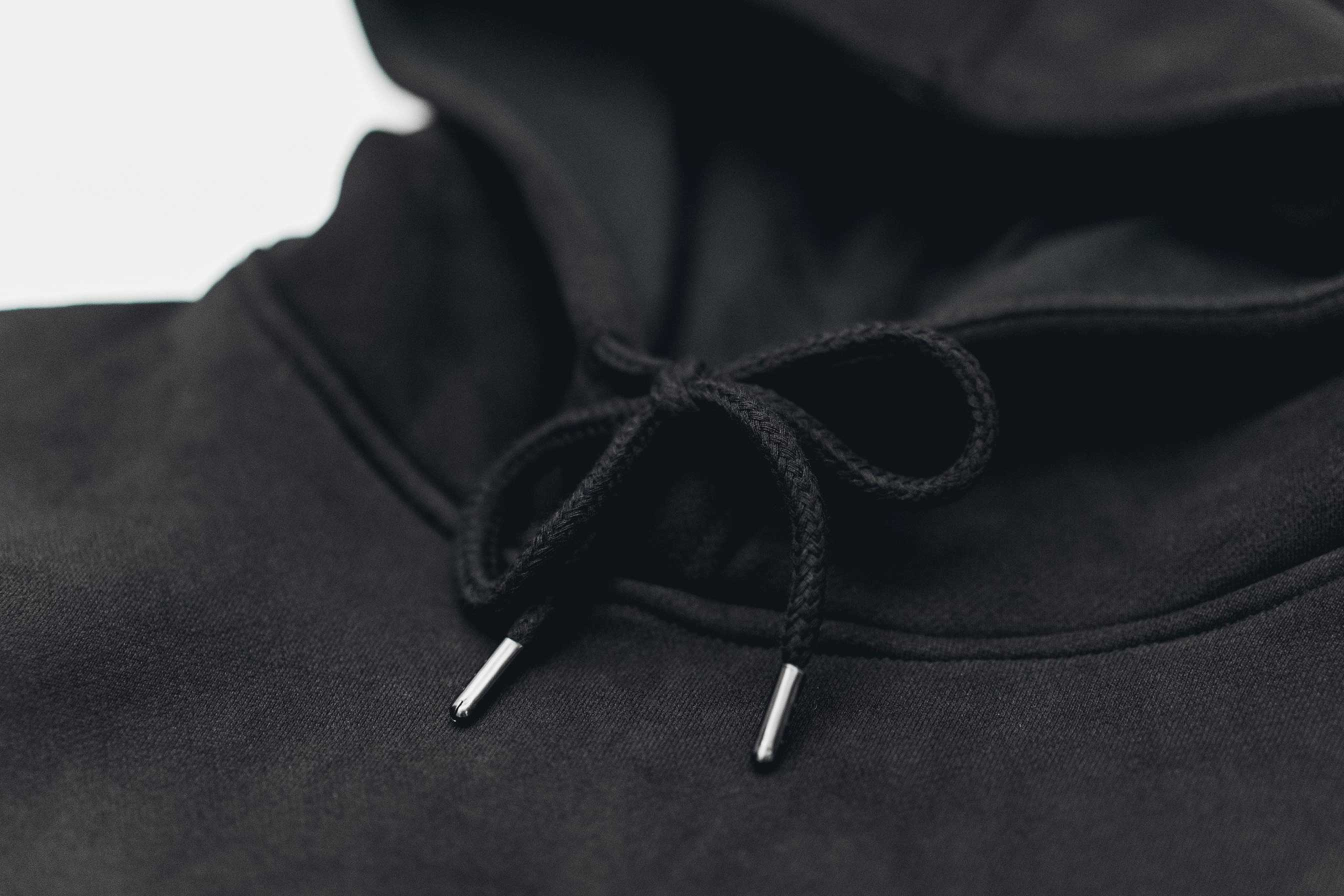 NO SNAKES JUST LADDERS HOOD // BLACK