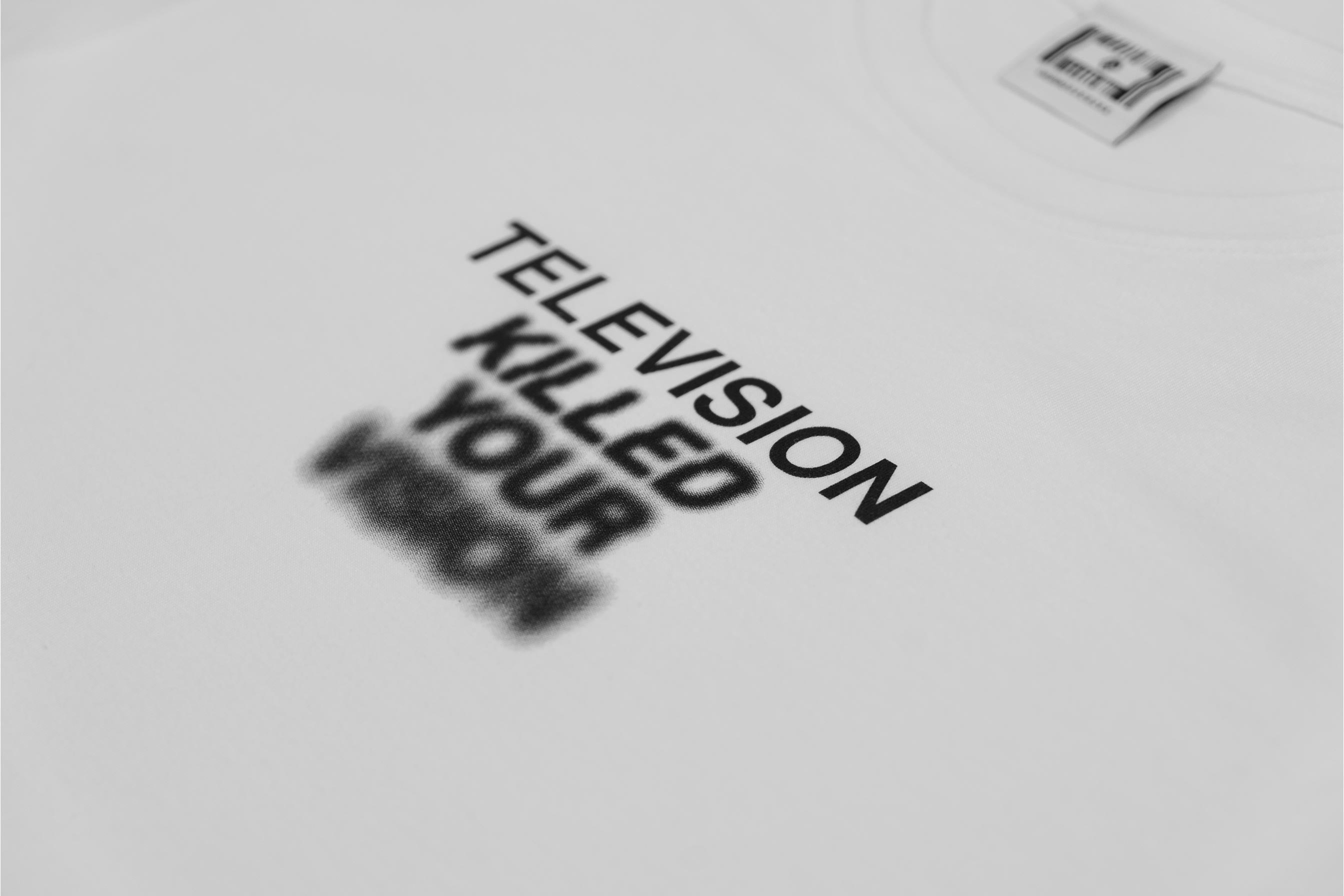 TV KILLED YOUR VISION TEE // WHITE