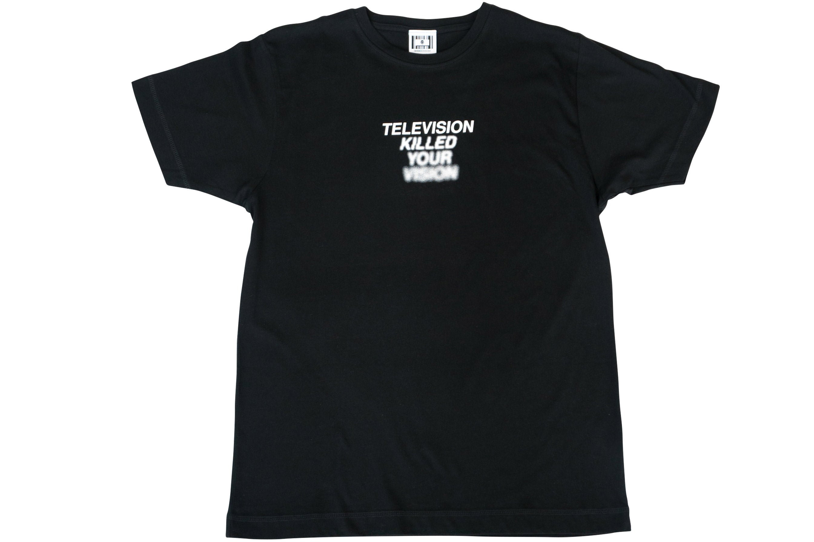TV KILLED YOUR VISION TEE // BLACK