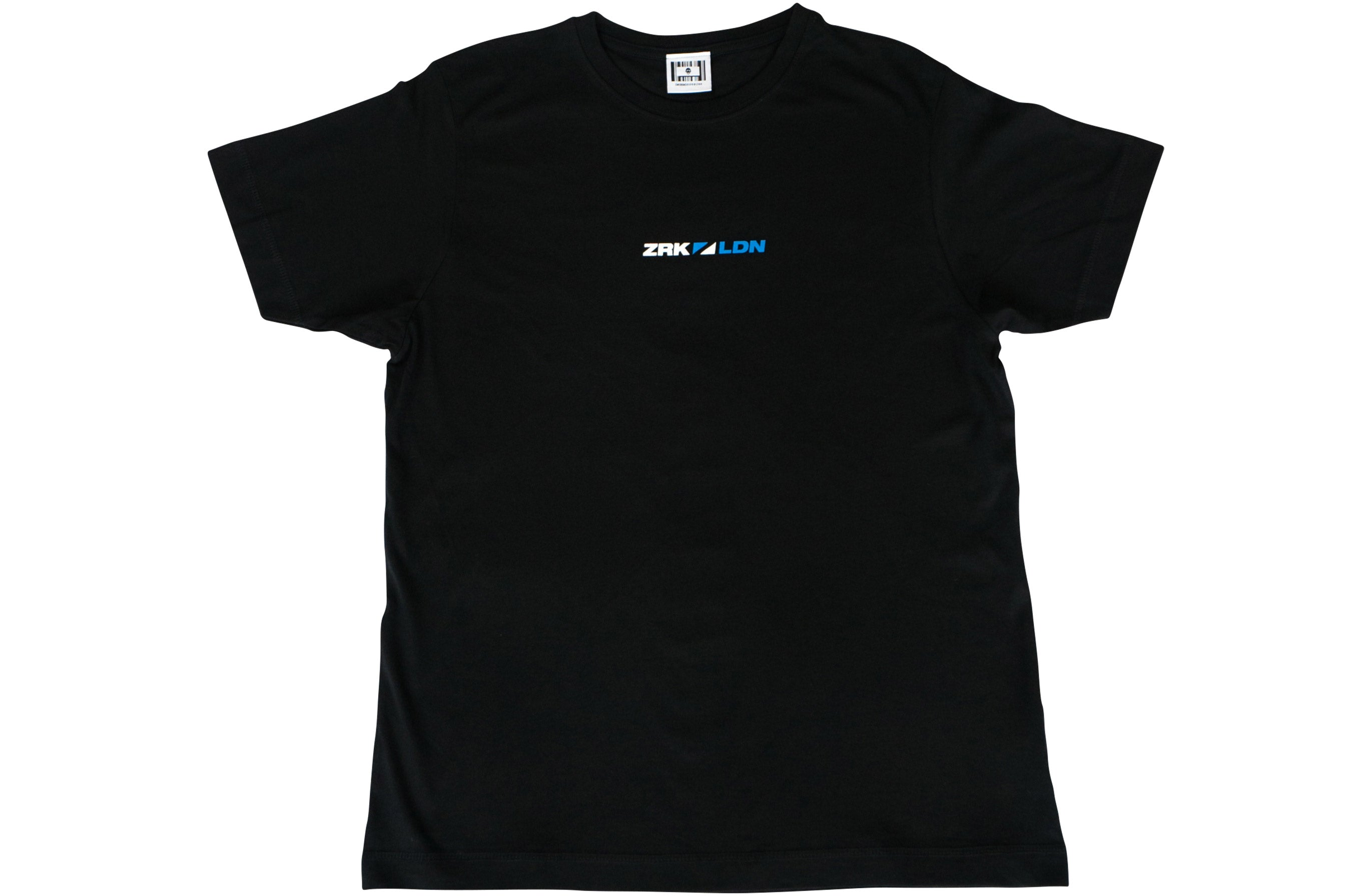 SPLIT FLAG TEE // BLACK/BLUE/WHITE
