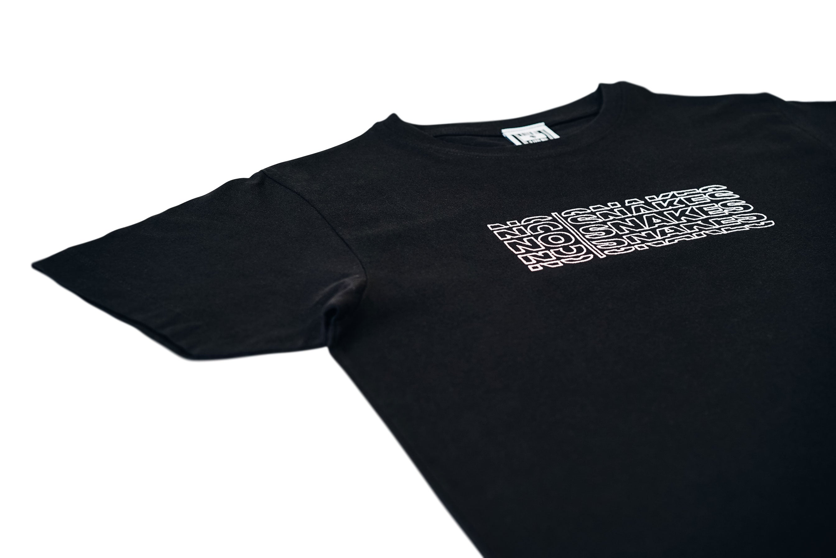 NO SNAKES ECHO TEE // BLACK & WHITE