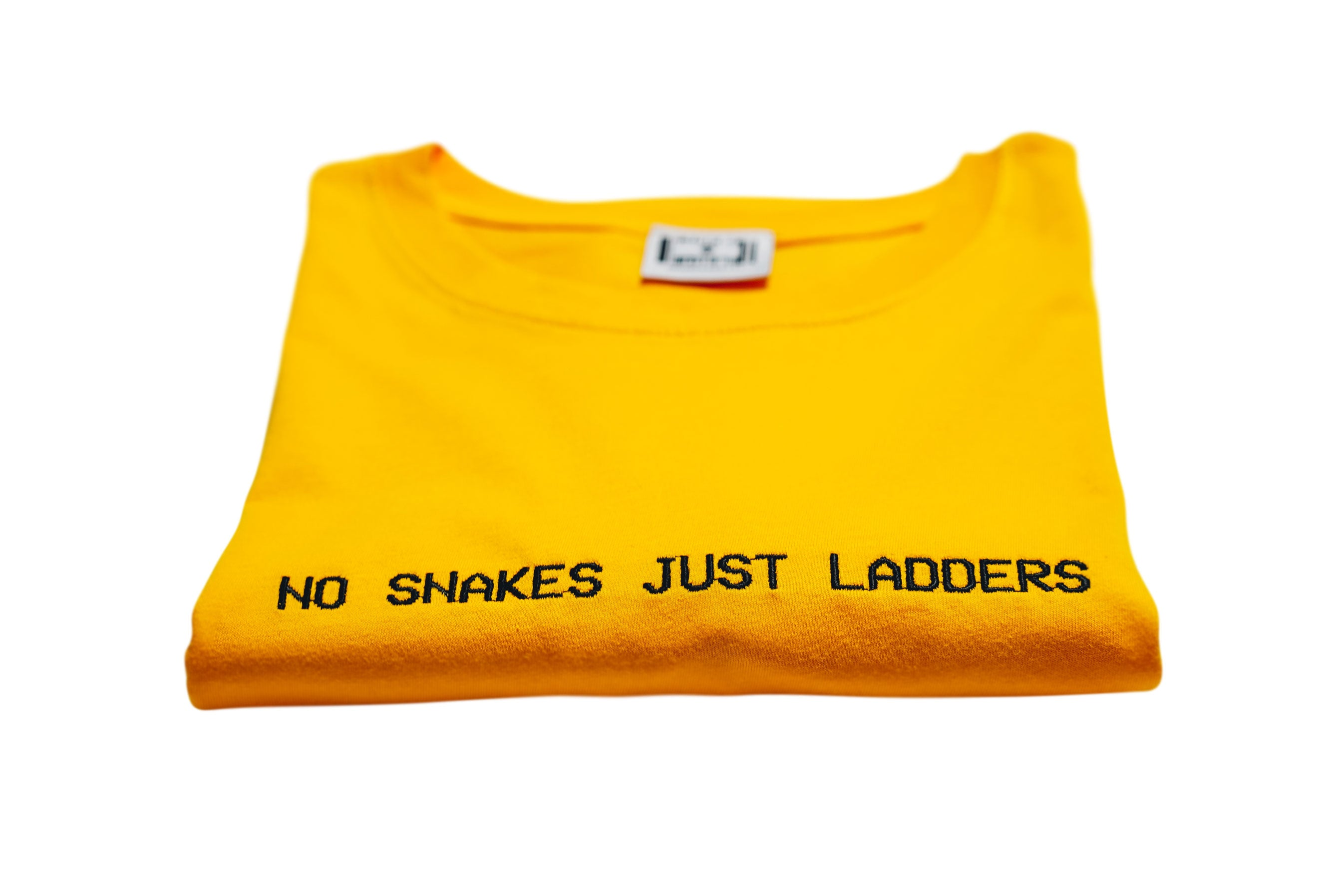 NO SNAKES JUST LADDERS TEE (CORE) // YELLOW