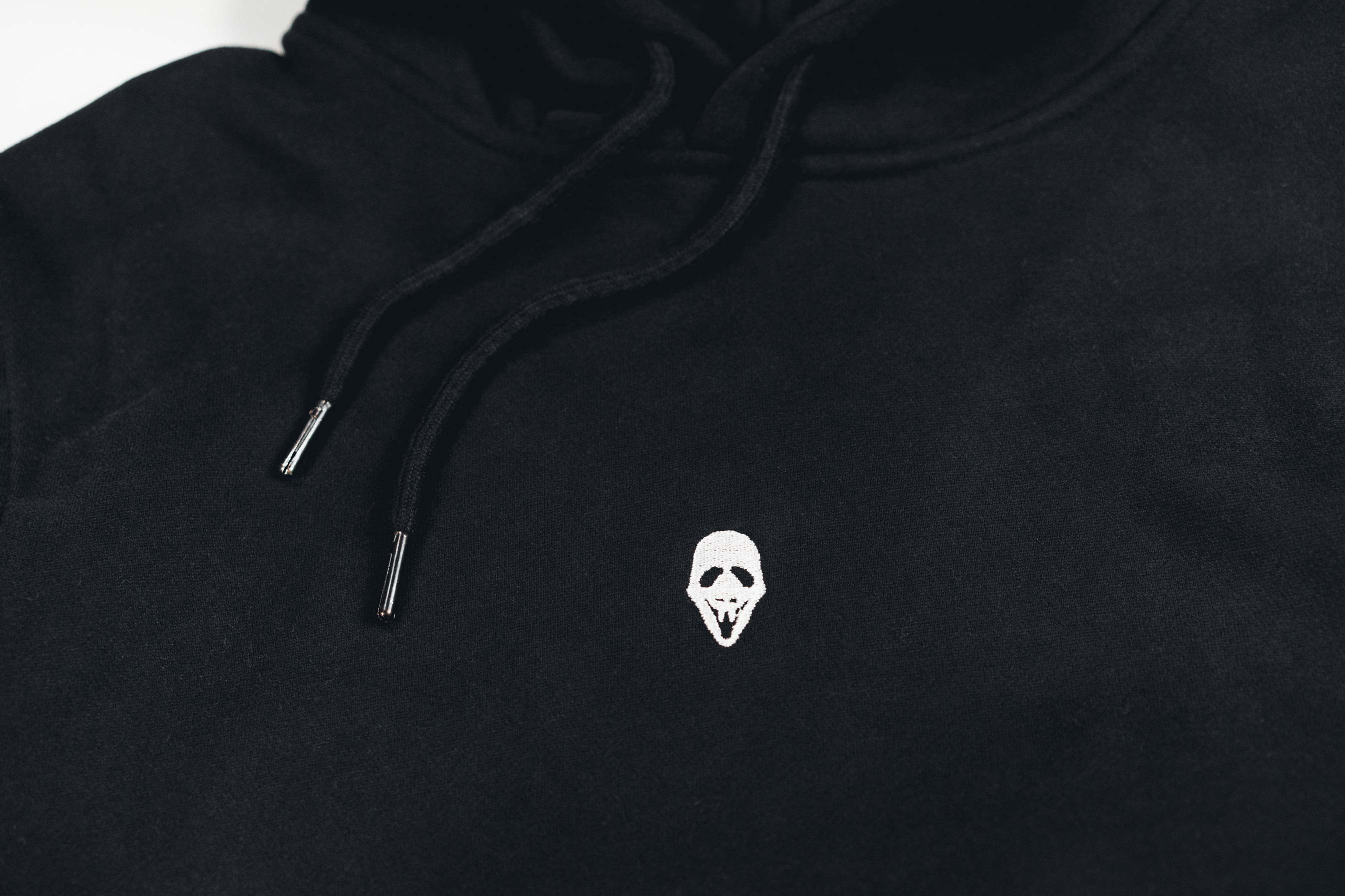 MASK LOGO HOOD // BLACK