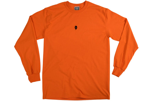 MASK LOGO LONG SLEEVE TEE // ORANGE