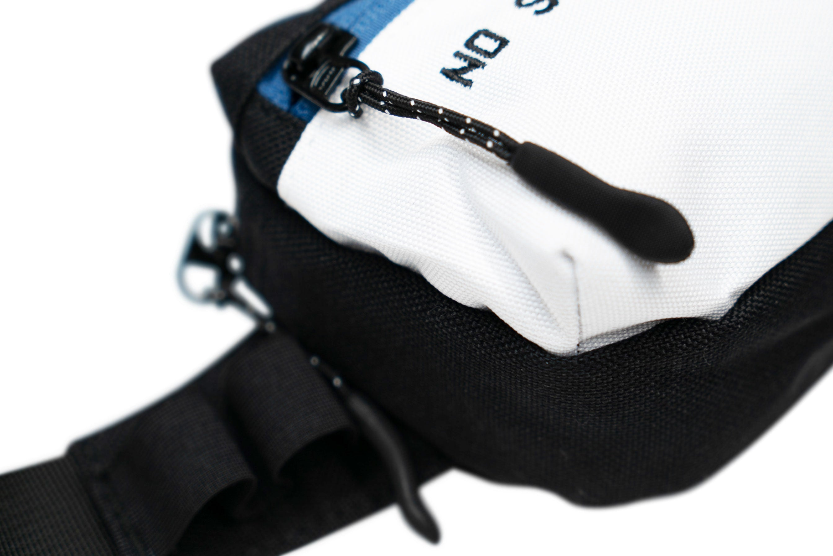 NO SNAKES JUST LADDERS CHEST BAG // BLUE & WHITE