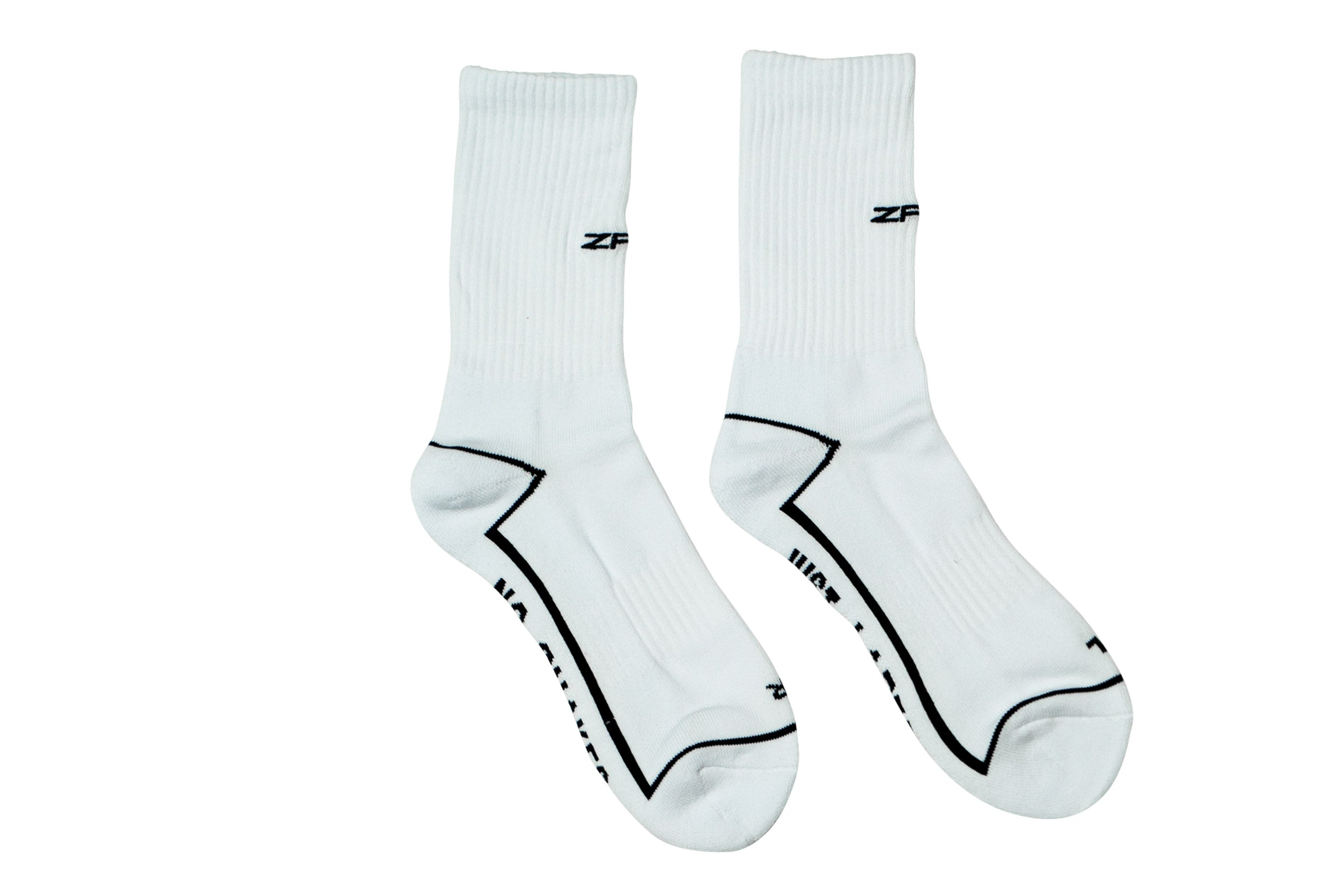 ZRK USB SOCKS // WHITE & BLACK
