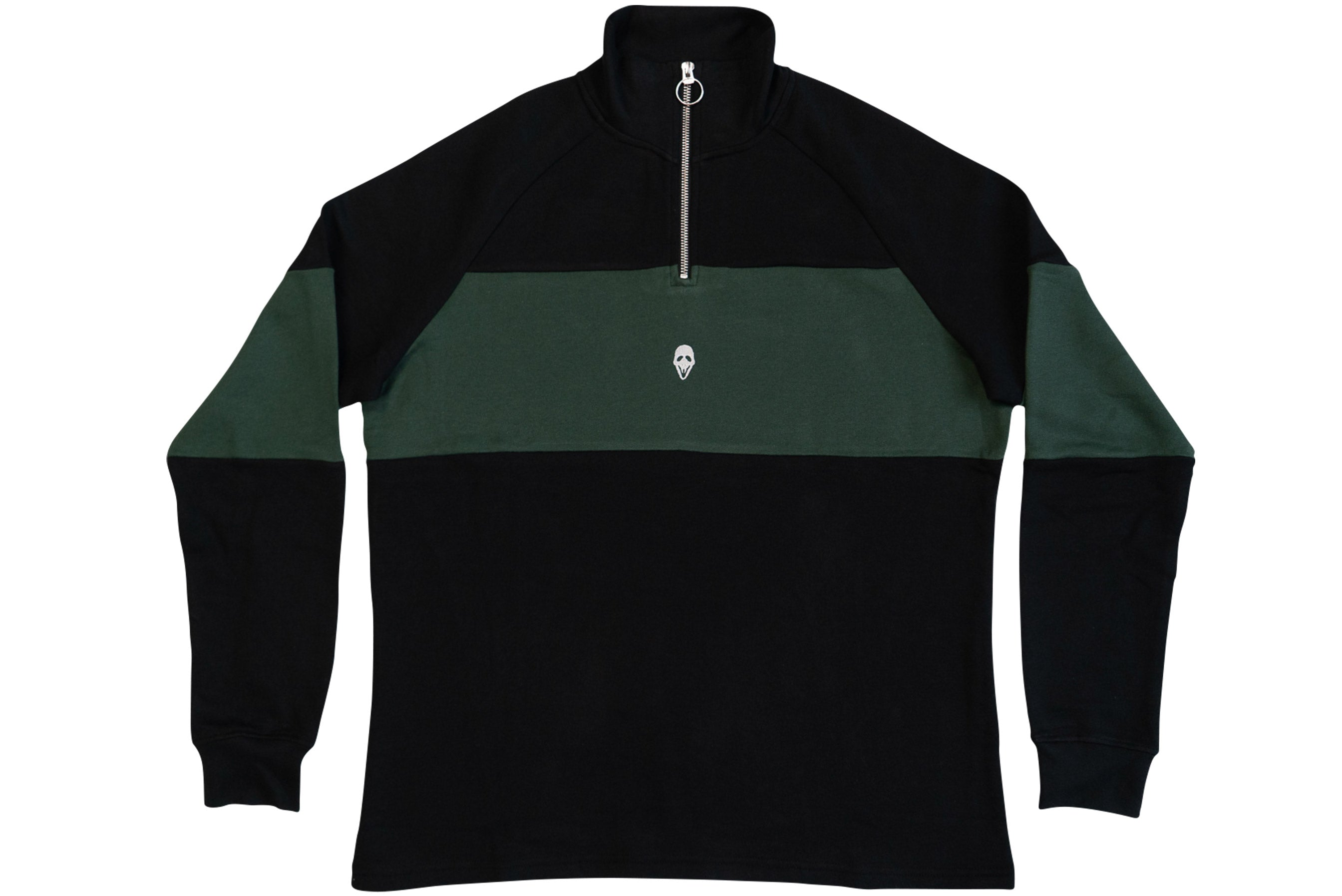 QUARTER ZIP // BLACK & GREEN