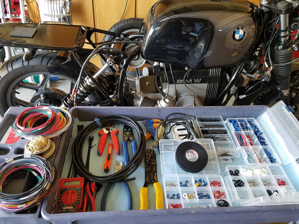 Project 88 1988 Bmw R100 Boss Moto Clothing Llc Motorcycle Wiring Diagrams R90 Preparation For The Acewell Digital Analog Speedo And Other Electrical Components