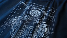 BMW R nine T Cafe Racer Graph Motorcycle 3/4 Baseball Tee Shirt