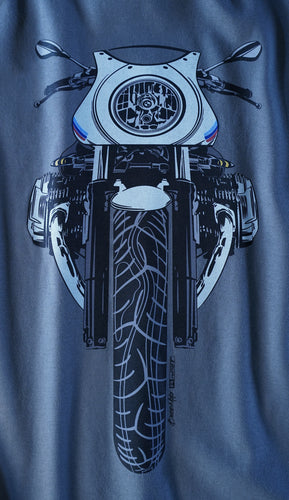 BMW R nine T Racer Color Motorcycle Tee Shirt