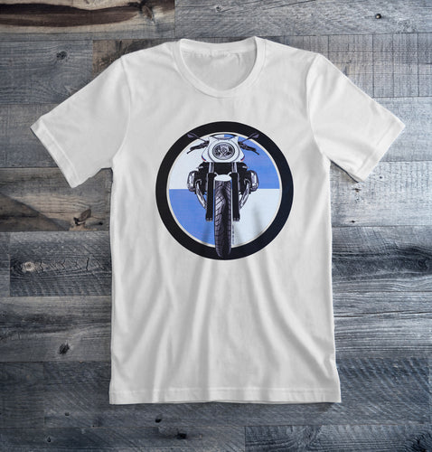 BMW R nine T Racer Logo Motorcycle Tee Shirt
